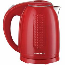Ovente Electric Kettle, 1.7L, 1100W, Double-Wall Interior, B
