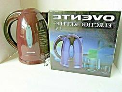OVENTE ELECTRIC KETTLE, 1.7l, NEW IN BOX, BURGUNDY COLOR