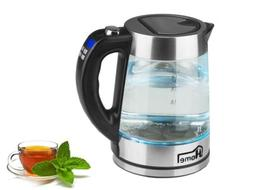Electric Kettle 1.8 L Cordless Glass Hot Water Boiler Tea He
