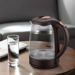 Stariver Electric Kettle, 2L Glass Water Boiler Stainless St