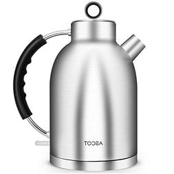 Ascot Electric Kettle, 100% Stainless Steel Hot Water Boiler