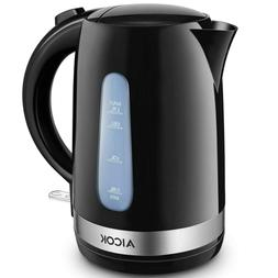 Aicok Electric Kettle Double Wall Cool Touch 1500W Tea Kettl