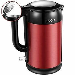 AICOK Electric Kettle Double Wall Stainless Steel Kettle
