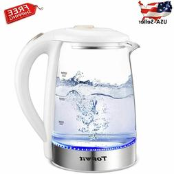 Electric Kettle Glass Hot Water, Kettle Auto Shut-Off and Bo