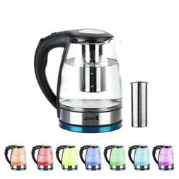 Electric Kettle Glass Tea Kettle  Fast Boiling Cordless Stai
