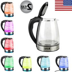 Electric Kettle Glass Water Boiler Fast Boiling Tea Kettle 1