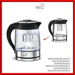 ELECTRIC KETTLE Glass with Infuser 1.8Li Tea Home Dining Sma