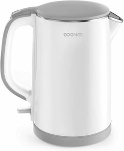 Electric Kettle, Miroco Double Wall 100% Stainless Steel Coo