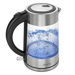 VAVA Electric Kettle, 1.7L Glass Tea Kettle, Fast Boiling an