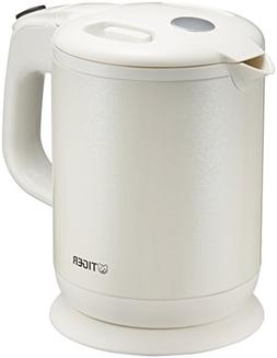TIGER Steam-Less Electric Kettle Wakuko 0.8 liters Pearl Whi