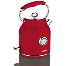Electric Kettle, Stainless Steel, Stylish, 1.7 Liter, Red Ki