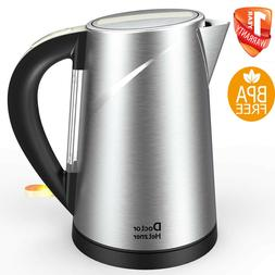 Electric Kettle Tea Hot Water Coffee Brew 1.5L Stainless Ste