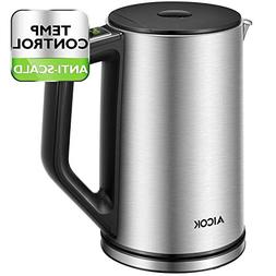 Aicok Electric Kettle Temperature Control, Double Wall Cool