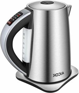 AICOK Electric Kettle Temperature Control, 1500W SpeedBoil,