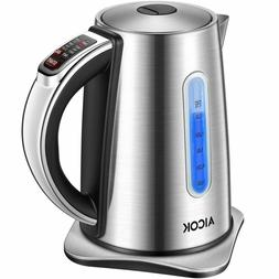 Electric Kettle Temperature Control, 2nd Gen Aicok Stainless