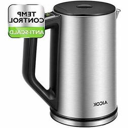 Electric Kettle Temperature Control Double Wall Cool Touch W