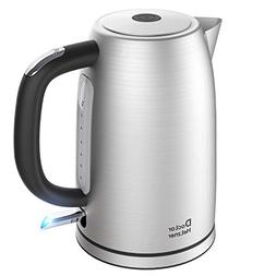 Electric Kettle 1.7 Liter, Doctor Hetzner Stainless Steel Wa
