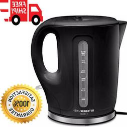 Electric Plastic Kettle Auto Shut Off Feature 1500W Sleek Bl