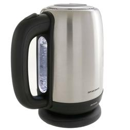 Electric Tea Kettle 1.7 L Hot Water Stainless Steel Cordless