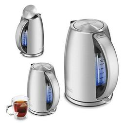Electric Tea Kettle 7 Cup Stainless Steel Cool Nonslip Handl