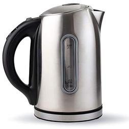 Electric Tea Kettle, Stainless Steel Cordless Pot 1.7 Liter,