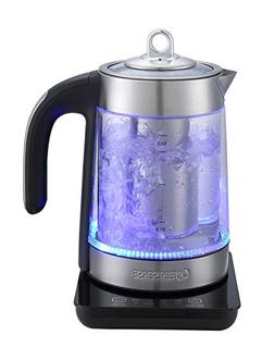 QUEEN SENSE Electric Kettle ,Mesh Filter, Fast Boiling Glass