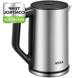 Electric Tea Kettle Temperature Control Double Wall Stainles