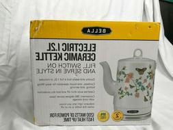 BRAND NEW Bella Electric Tea Pot Ceramic Kettle 1.2 liter In