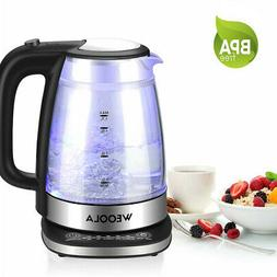 Electric Water Kettle 1.7L Home Kitchen Glass Tea Kettle Pot