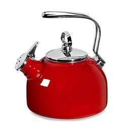 Chantal Enamel Steel Classic Tea Kettle in Red