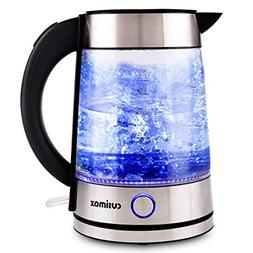 Cusimax 7-Cup Glass Water Kettle,Auto Shut Off Illuminating