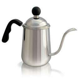 K&S Premium Pour Over Coffee & Tea Kettle, 1L. Stainless Ste