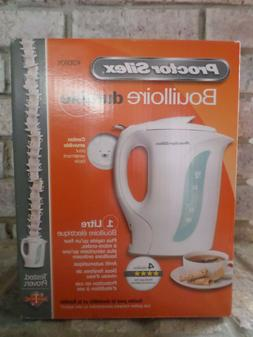 Proctor Silex K2070Y White 1-Qt Electric Kettle  Automatic S