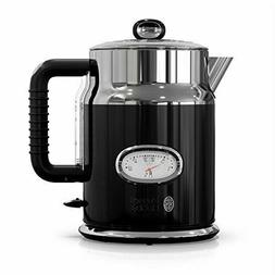 Russell Hobbs Retro Style 1.7L Electric Kettle, Black & Stai