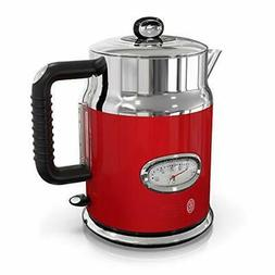 Russell Hobbs Retro Style 1.7L Electric Kettle, Red & Stainl