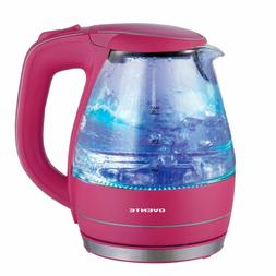 Ovente KG83F Glass Electric Kettle, 1.5 L, Pink
