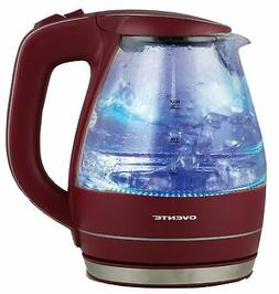 Ovente KG83M 1.5L Glass Electric Kettle, Maroon