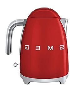 Smeg KLF01RDUS 50's Retro Style Aesthetic Electric Kettle, R