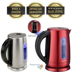 Ovente 1.7L Stainless Steel Electric Kettle with Touch Scree