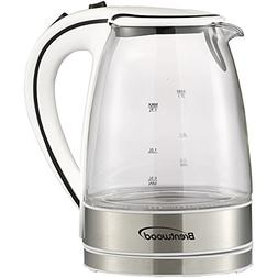 BRENTWOOD KT-1900W Glass Electric Kettle, 1.7 Liter Home, ga