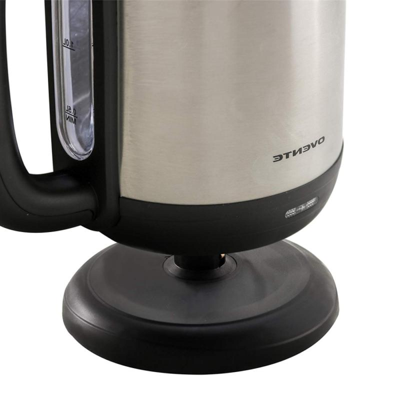 Ovente Stainless Electric Kettle, Left/Rig