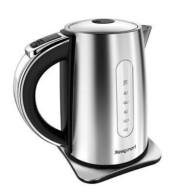 1.7L Electric Tea Kettle Hot Water Stainless Steel Pot Fast