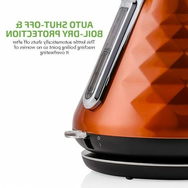 Ovente 1.7L Water Electric Kettle Copper