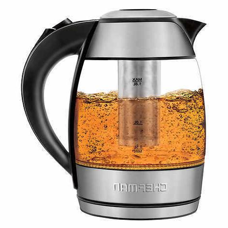 Chefman Liter Glass With Removable Tea Infuser