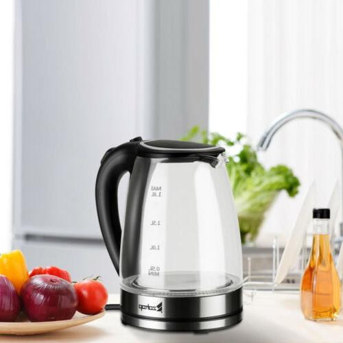 1500W 1.8L Kettle Glass Fast Boiling