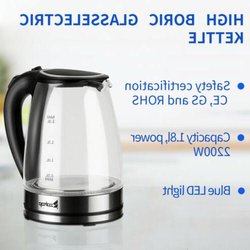 1500W Electric Kettle Glass Tea Fast