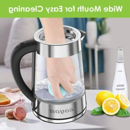 1.8L Electric Kettle Glass Kettle Boiling Shut-off LED Light