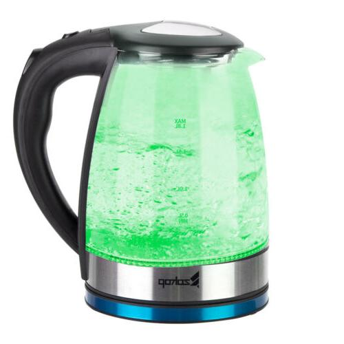 1.8L Kettle Colourful Glass
