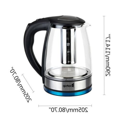 1.8L Electric Hot Kettle Colourful LED Glass