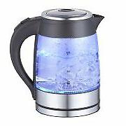 MegaChef 1.8Lt.Glass and Stainless Steel Electric Tea Kettle